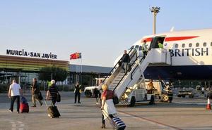 Aumenta un 10,4% el número de viajeros del aeropuerto de San Javier