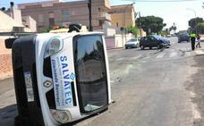 Dos heridos en un choque en San Javier