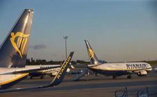 Ryanair cancela dos vuelos en San Javier por la huelga convocada en Alemania
