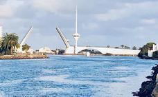 Vuelve a averiarse el puente del Estacio de La Manga