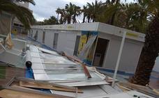La tormenta obliga a suspender el outlet, las procesiones y las fiestas berberiscas
