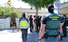 Detienen a siete vecinos de San Javier en una operación contra el tráfico de droga