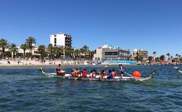 Final escolar de vela y dragon boat