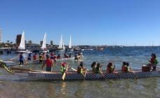 Emoción a toda vela en la final de las regatas escolares en el Mar Menor