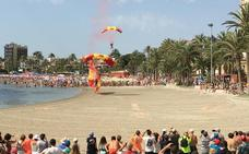 Caldero a pie de playa y exhibiciones aéreas para festejar al apóstol Santiago