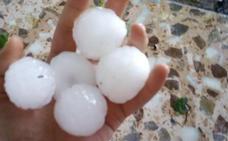 La tormenta deja daños por granizo en pedanías de Caravaca