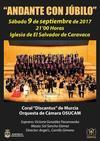 El concierto 'Andante con Júbilo' inicia las celebraciones de la Exaltación de la Vera Cruz