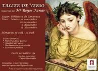 La Casa de la Cultura acoge a partir del 21 de noviembre un Taller de Verso