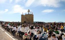 Unos 700 alumnos cantan en Caravaca durante el Encuentro de la Red de Coros Escolares 'Cantemus'