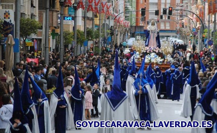 Procesión del Santo Encuentro - azules - Viernes Santo 2018