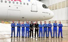 Iberia dedica su nuevo Airbus a la Patrulla Águila