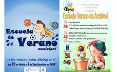 El Ayuntamiento de Caravaca oferta escuelas vacacionales en el casco urbano, Barranda, Archivel y La Encarnación