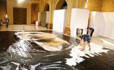 Santiago Ydáñez pinta en Caravaca el lienzo más grande de España para la exposición 'Místicos'