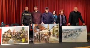 Blas Tomás Ibáñez gana el primer premio del III concurso de pintura al aire libre 'Rafael Tejeo'