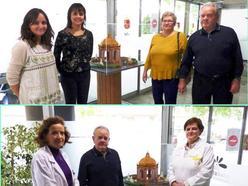 Un vecino de Bullas dona una maqueta del Templete de Caravaca al Hospital Comarcal del Noroeste