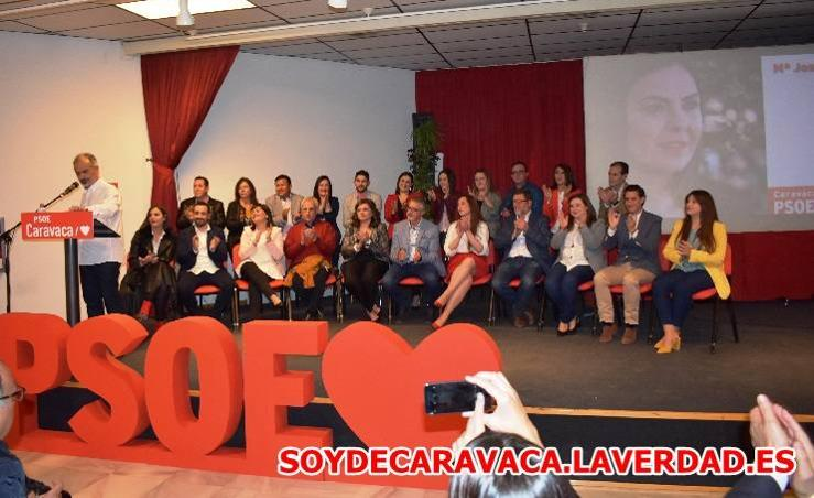 Presentación de la candidatura socialista a las municipales 2