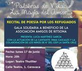 Solidaridad, poesía y artes escénicas en el recital de poesía del colegio 'La Santa Cruz'