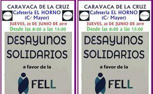 Desayunos solidarios para la FELL en la cafetería El Horno