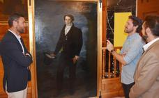 'Mista' dona a Caravaca un retrato del siglo XIX atribuido al pintor caravaqueño Rafael Tegeo