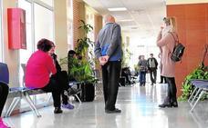Tiritando en la consulta médica