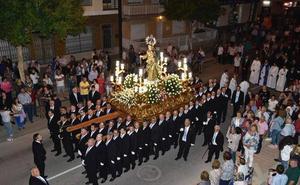 Solemnidad en la procesión de la patrona de Torre Pacheco