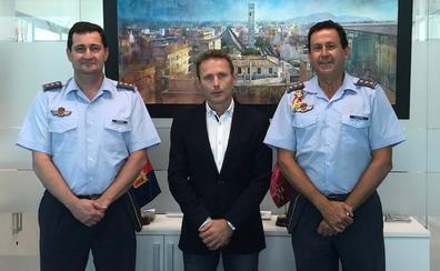 Primera visita del nuevo coronel director de la AGA a Torre Pacheco