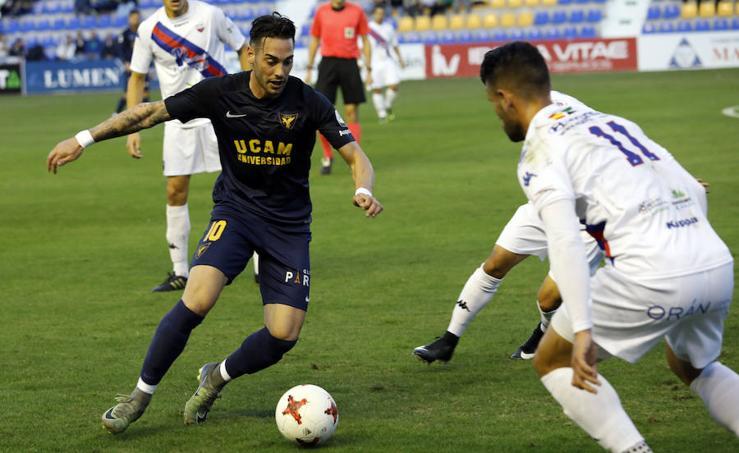 El Extremadura devora al UCAM y se lleva los tres puntos de La Condomina (0-2)