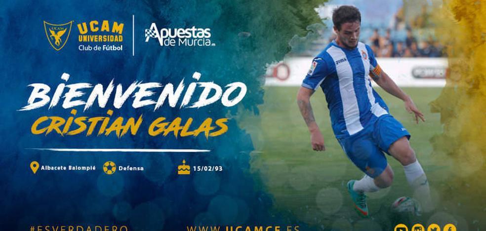 El UCAM refuerza su retaguardia con Cristian Galas, que llega del Albacete