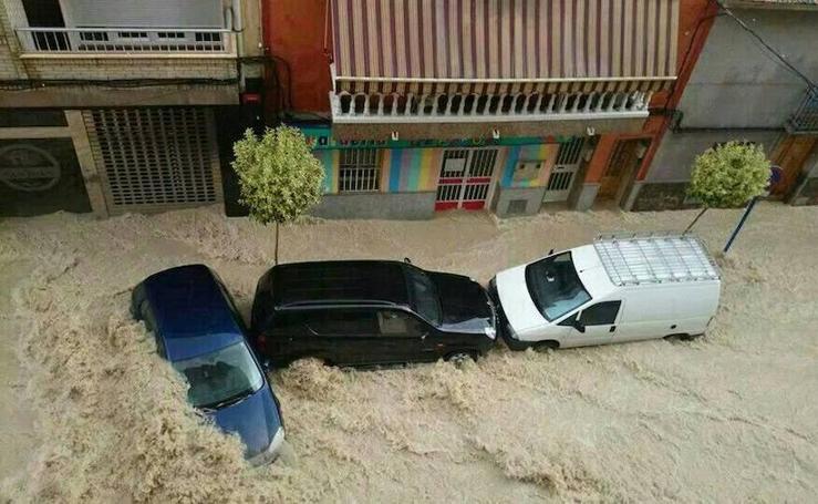 Molina, anegada por el temporal