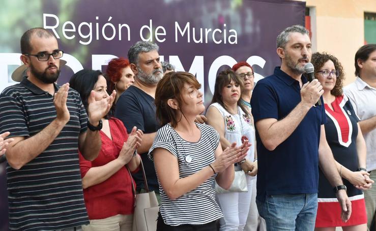 Podemos presenta las candidaturas a la secretaría general del partido en la Región de Murcia