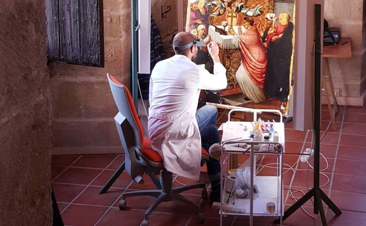 Restauración de las tablas del milagro de la Vera Cruz
