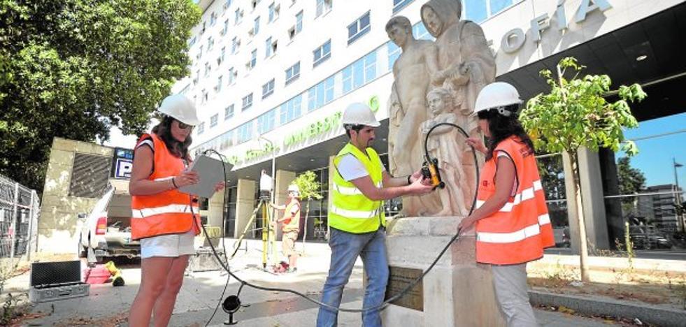 Escanean esculturas públicas para detectar su estado de conservación