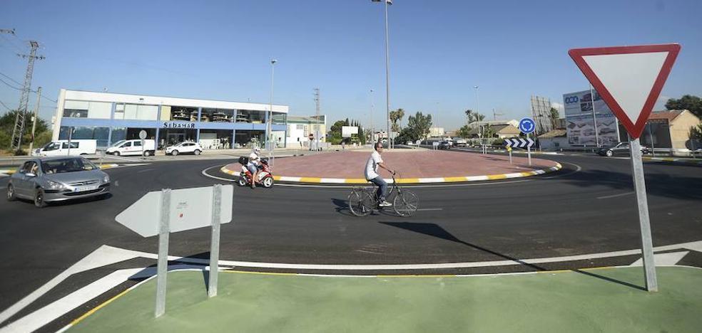 La rotonda de Beniaján canaliza ya unos 14.000 vehículos diarios