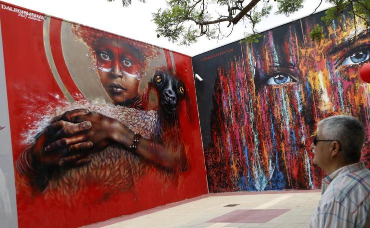 600m² de grafitis al aire libre en Murcia