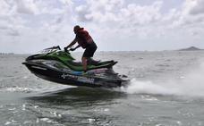 Velocidad sobre las aguas del Mar Menor