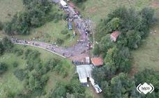 Fallece una joven de 29 años que sufrió una caída de la bici en L'Angliru