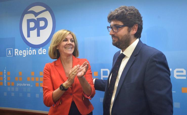 La Junta Directiva del PP elige a López Miras presidente por aclamación