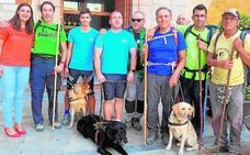 Los perros guía se unen al Camino de Caravaca
