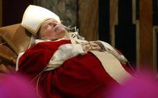 Roban la sangre de Juan Pablo II