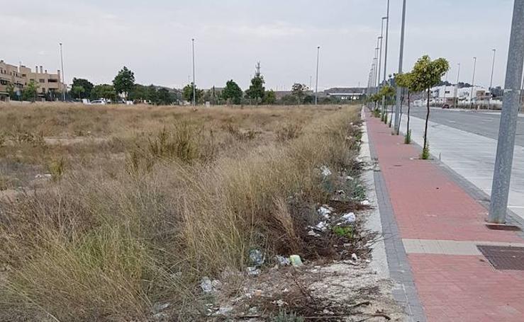 Cambiemos Murcia denuncia el estado de abandono de la zona de expansión de Guadalupe