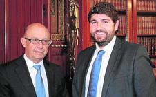 López Miras pide a Montoro un modelo de financiación «acordado por todos»