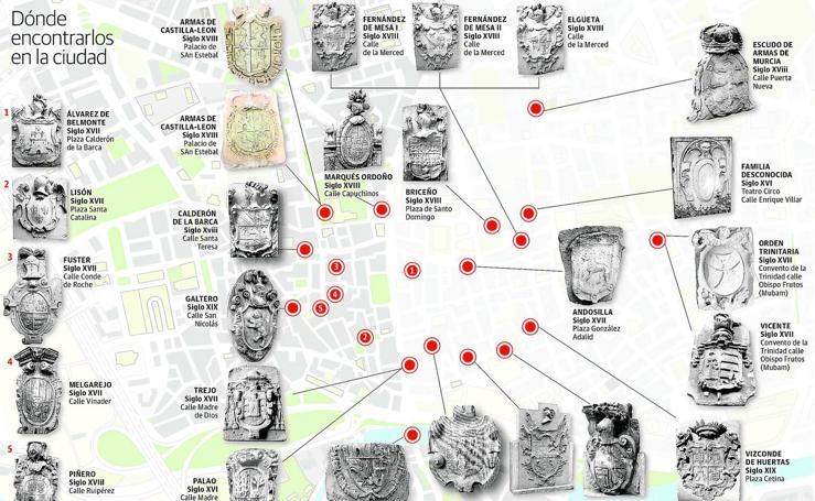Dónde encontrar los escudos heráldicos de Murcia