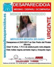 Encuentran en buen estado a la menor desaparecida desde este martes en San Pedro