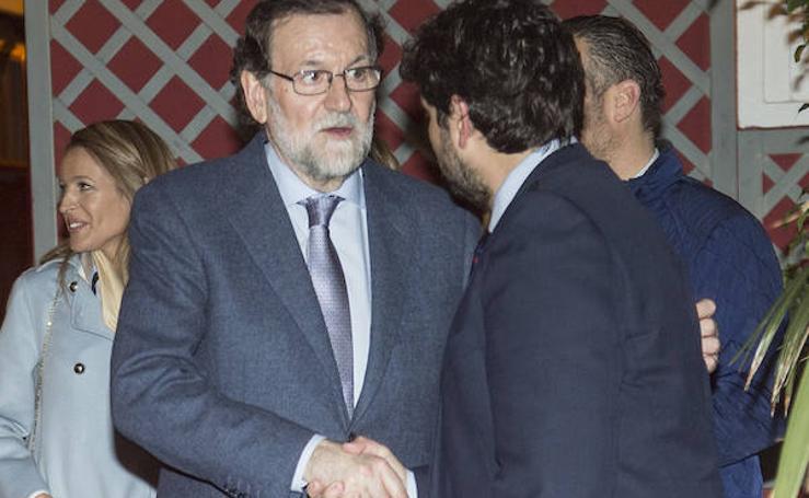 Rajoy y Miras, cena y caminata antes de una boda en Cartagena