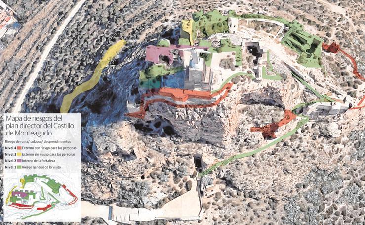 Mapa de riesgos del plan director del Castillo de Monteagudo