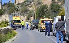 Un motorista resulta herido grave en la carretera de Abarán a Cieza