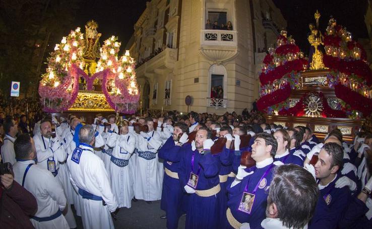 El Encuentro se recoge al alba con miles de fieles en las calles de Cartagena