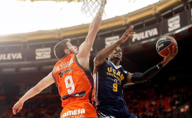 El UCAM se acostumbra a la excelencia tras vencer a Valencia Basket (73-84)