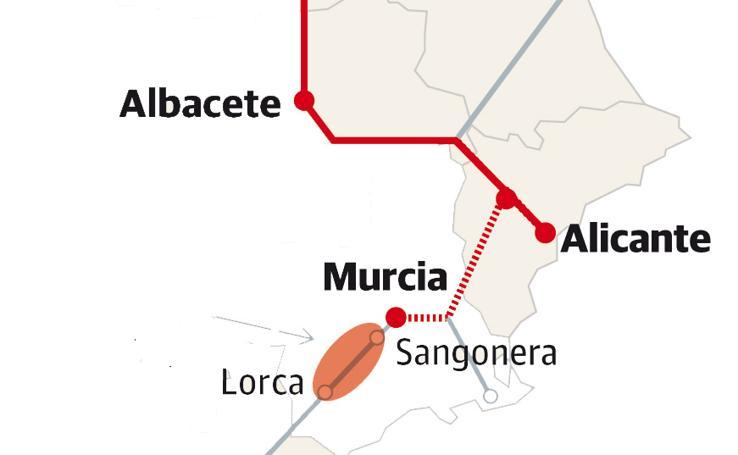Adif expropia 1.255 parcelas entre Lorca y Sangonera para el Corredor Mediterráneo