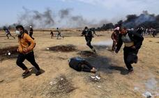 Muere un menor palestino herido de bala en las protestas de Gaza